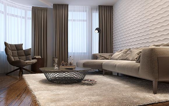 le mur d coratif osez le couvre plancher le bois ou le panneau mural. Black Bedroom Furniture Sets. Home Design Ideas