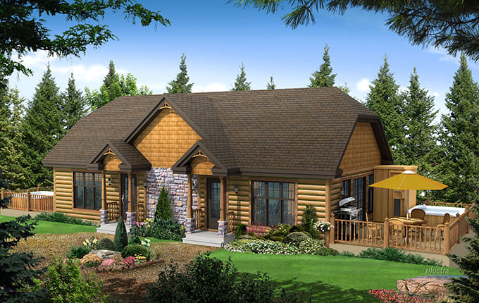 Conception plan chalet Beauharnois - Mercier