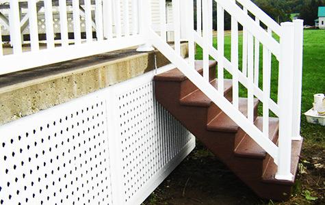 Balcon patio terrasse en fibre de verre construction for Recouvrement de balcon exterieur